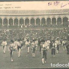 Postales: POSTAL PUBLICITARIA HOTEL PENINSULAR MADRID CORRIDA EL PASEO ED. HAUSER Y MENET N° 122. Lote 207224645