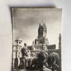 Postales: MADRID. POSTAL NO.138, FUENTE DE CIBELES, EDIC. POSTAL MADRID (H.1955?) CIRCULADA.... Lote 207253763