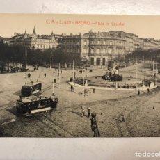 Postales: MADRID. POSTAL NO. 689, PLAZA DE CASTELAR. FOTOTIPIA CASTAÑEIRA, ÁLVAREZ Y LEVENFELD (H.1920?). Lote 207338723