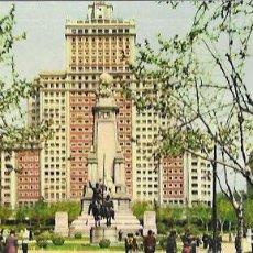 Postales: POSTAL PANORÁMICA * MADRID , MONUMENTO A CERVANTES, AL FONDO, ED. ESPAÑA * 205. Lote 207623966