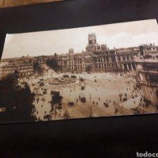 Postales: ANTIGUA POSTAL DE MADRID, PUBLICIDAD AGUAS DE CARABAÑA. Lote 207735185