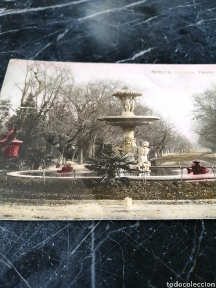 Postales: MADRID. EL RETIRO. FUENTE DE LA ALCACHOFA. COLOREADA. 166-THOMAS.BARCELONA. - Foto 2 - 207765022