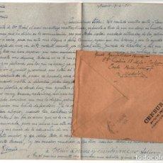Postales: MADRID.- CENSURA PRISIÓN PROVISIONAL. TORRIJOS 66. CÁRCEL. SOBRE Y CARTA CURIOSO TEXTO. 1941. Lote 208140422