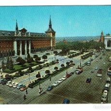 Postales: MADRID MINISTERIO DEL AIRE Y ARCO DEL TRIUNFO Nº 34 DOMINGUEZ NO CIRCULADA SEAT 1500 600 R 4. Lote 208176451