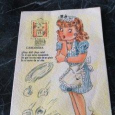 Postales: POSTALES BEA SERIE V. CAMARERA. ZUEGEL. CIRCA 1950.. Lote 208283433