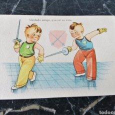 Postales: POSTAL CMB SERIE N° 28. ESGRIMA. CIRCA 1950.. Lote 208284246
