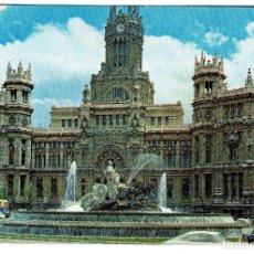 Postales: MADRID LA CIBELES Y PALACIO DE TELECOMUNICACIONES Nº 197 DOMINGUEZ - NO CIRCULADA. Lote 208821965