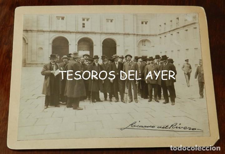 FOTOGRAFIA DE EL ESCORIAL, PATIO DE LOS REYES, MADRID, FIRMADA POR RICARDO DEL RIVERO IGLESIAS (MADR (Postales - España - Comunidad de Madrid Antigua (hasta 1939))