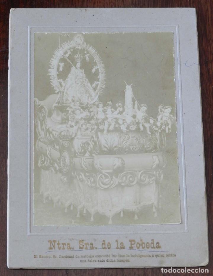 FOTOGRAFIA ALBUMINA DE NUESTRA SEÑORA DE LA POBEDA O POVEDA, EN VILLA DEL PRADO, MADRID, MIDE 18,5 X (Postales - España - Comunidad de Madrid Antigua (hasta 1939))