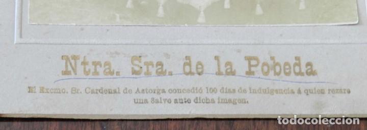 Postales: FOTOGRAFIA ALBUMINA DE NUESTRA SEÑORA DE LA POBEDA O POVEDA, EN VILLA DEL PRADO, MADRID, MIDE 18,5 X - Foto 3 - 209860995