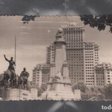 Postales: 18. MADRID. EDIFICIO ESPAÑA. MONUMENTO DE CERVANTES. Lote 209960822
