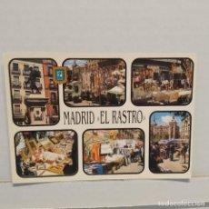 Postales: MADRID, DIVERSOS ASPECTOS. EL RASTRO, FISA, ESCUDO DE ORO, DOMÍNGUEZ. Lote 210540127