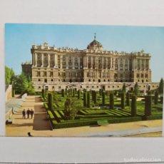 Postales: MADRID, PALACIO NACIONAL, FACHADA DE LOS JARDINES DE SABATINI, EDICIONES VISTABELLA. Lote 210593547
