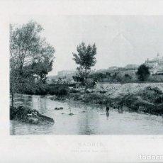 Postales: LÁMINA-MADRID VISTA DESDE SAN ISIDRO-RÍO MANZANARES-HAUSER Y MENET- 24X30 AÑO 1891- RARA. Lote 210621925