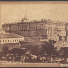Postales: FOTO DE MADRID Nº1016 EL PALACIO REAL DESDE LA MONTAÑA DEL PRINCIPE PIO. J. LAURENT ALBUMINA. Lote 211480864