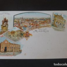 Postales: MADRID POSTAL TIPO CRUSS AUSS EDICION ALEMANA REVERSO SIN DIVIDIR CROMOLITOGRAFICA. Lote 294141208