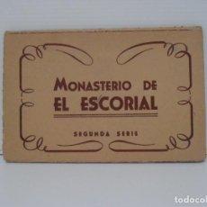 Postales: BLOC DE VISTAS, 10 POSTALES TURISTICAS, 2ª SERIE, MONASTERIO DEL ESCORIAL MADRID. Lote 212708086
