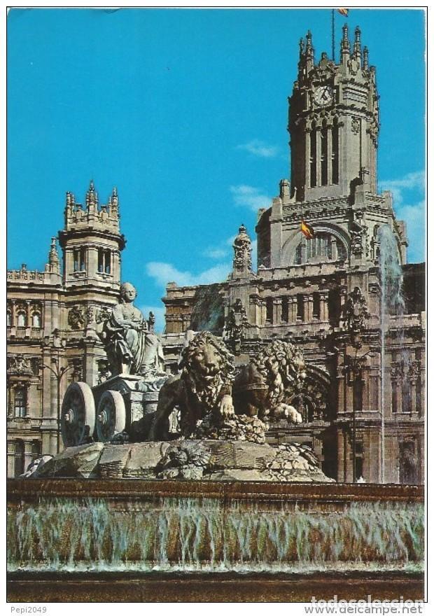 // E260 - POSTAL - MADRID - LA CIBELES Y PALACIO DE COMUNICACIONES (Postales - España - Madrid Moderna (desde 1940))