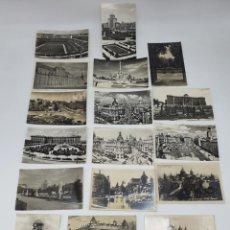 Postales: LOTE POSTALES ANTIGUAS EN BLANCO Y NEGRO DE MADRID. Lote 213539766