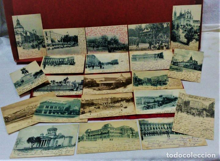 LOTE 21 POSTALES DE MADRID ENTRE LOS AÑOS 1902 A 1904.UNA DE 1911.FOT HAUSER Y MENET Y LAURENT (Postales - España - Comunidad de Madrid Antigua (hasta 1939))