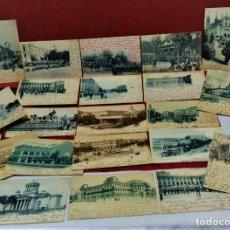 Postales: LOTE 21 POSTALES DE MADRID ENTRE LOS AÑOS 1902 A 1904.UNA DE 1911.FOT HAUSER Y MENET Y LAURENT. Lote 213930620