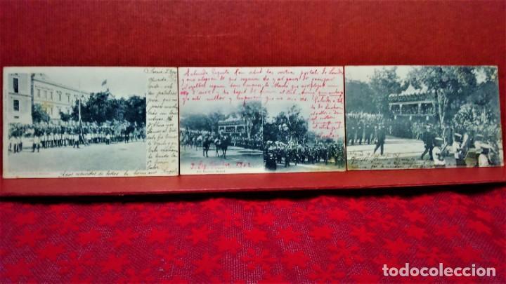 Postales: LOTE 21 POSTALES DE MADRID ENTRE LOS AÑOS 1902 A 1904.UNA DE 1911.FOT HAUSER Y MENET Y LAURENT - Foto 2 - 213930620