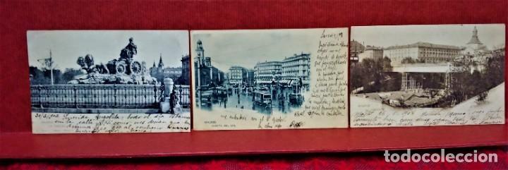 Postales: LOTE 21 POSTALES DE MADRID ENTRE LOS AÑOS 1902 A 1904.UNA DE 1911.FOT HAUSER Y MENET Y LAURENT - Foto 7 - 213930620