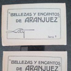 Postales: DOS ÁLBUMES DE POSTALES DE ARANJUEZ TOTAL 30 POSTALES. Lote 214523431