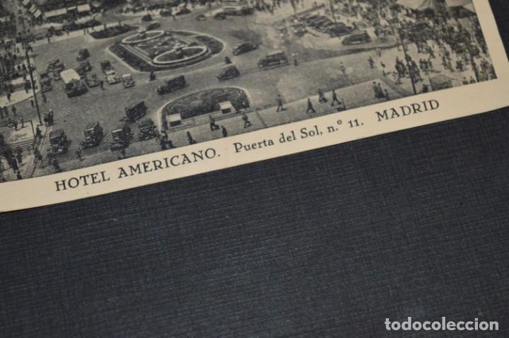Postales: ANTIGUA / DIFÍCIL POSTAL CIRCULADA - MADRID / HOTE AMERICANO - Puerta del Sol Nº 11 / Octubre 1957 - Foto 2 - 214898116