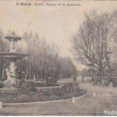 Postales: POSTAL RETIRO FUENTE ALCACHOFA MADRID FOT LACOSTE ALFREDO PALUZIE Y LUCENA ARQUITECTO OLOT 1920 PT. Lote 214970331