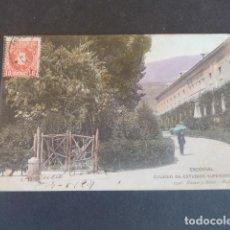 Postales: EL ESCORIAL MADRID COLEGIO DE ESTUDIOS SUPERIORES HAUSER Y MENET SIN DIVIDIR ILUMINADA. Lote 215980427