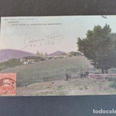 Postales: EL ESCORIAL MADRID VISTA DESDE LA CARRETERA DE GUADARRAMA HAUSER Y MENET ILUMINADA. Lote 215980493