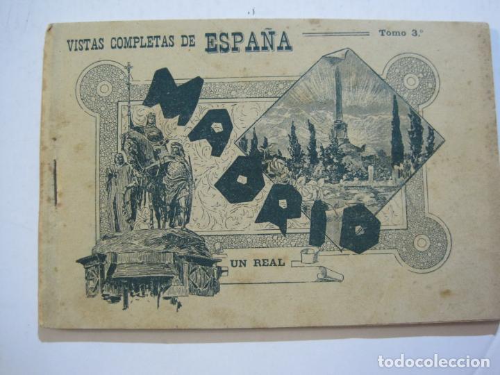 Postales: MADRID-VISTAS COMPLETAS DE ESPAÑA-BLOC CON VISTAS DIBUJADAS-VER FOTOS-(K-38) - Foto 2 - 216609393