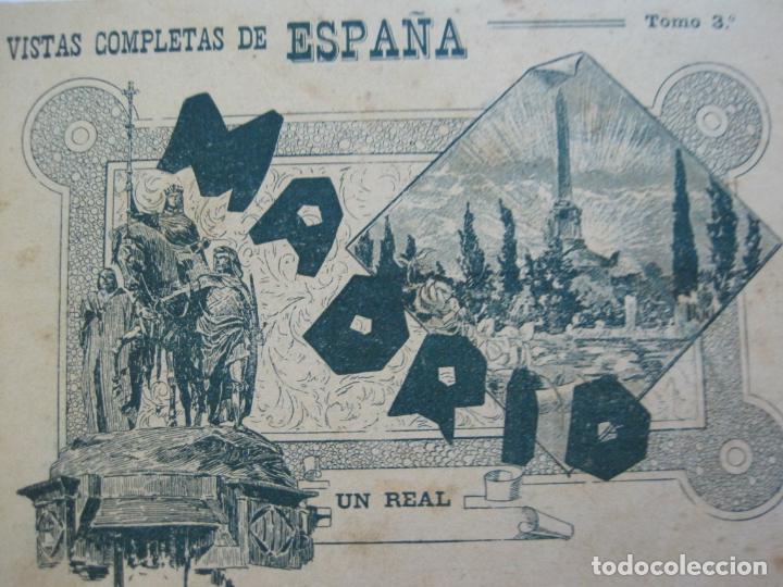 Postales: MADRID-VISTAS COMPLETAS DE ESPAÑA-BLOC CON VISTAS DIBUJADAS-VER FOTOS-(K-38) - Foto 6 - 216609393