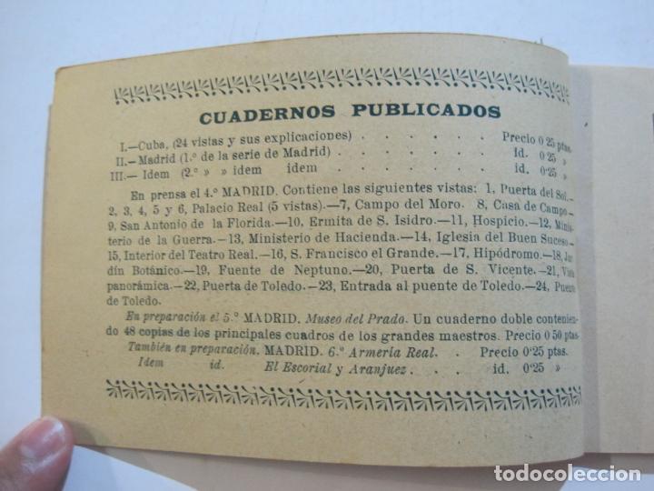 Postales: MADRID-VISTAS COMPLETAS DE ESPAÑA-BLOC CON VISTAS DIBUJADAS-VER FOTOS-(K-38) - Foto 7 - 216609393