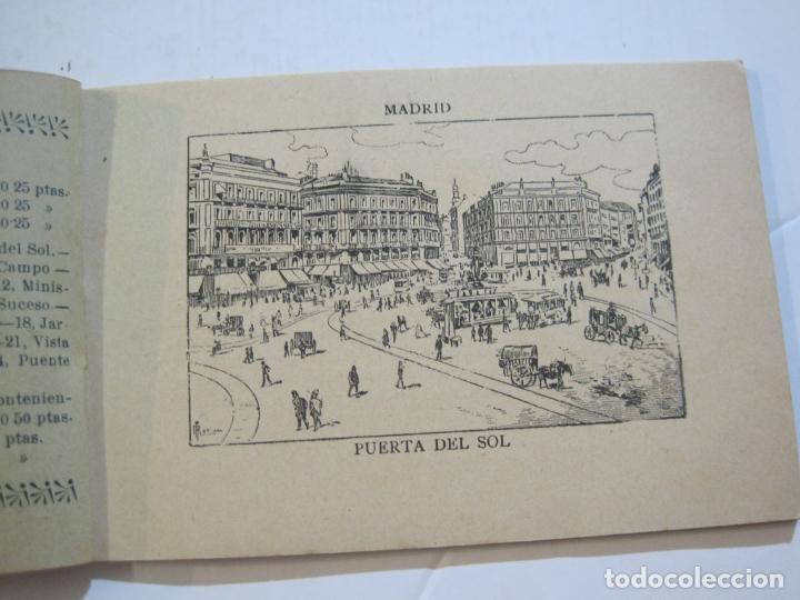 Postales: MADRID-VISTAS COMPLETAS DE ESPAÑA-BLOC CON VISTAS DIBUJADAS-VER FOTOS-(K-38) - Foto 8 - 216609393