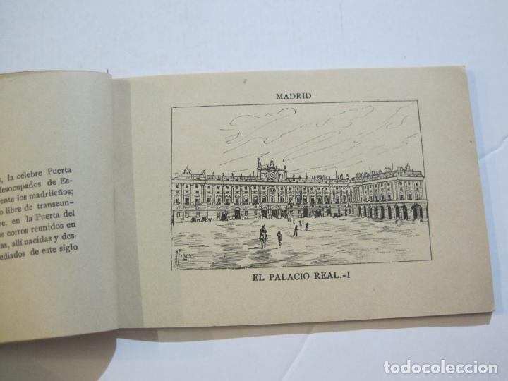 Postales: MADRID-VISTAS COMPLETAS DE ESPAÑA-BLOC CON VISTAS DIBUJADAS-VER FOTOS-(K-38) - Foto 9 - 216609393