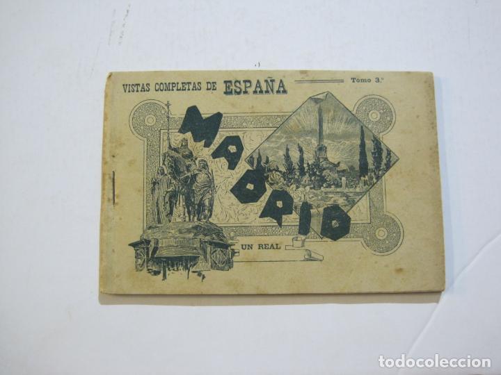 MADRID-VISTAS COMPLETAS DE ESPAÑA-BLOC CON VISTAS DIBUJADAS-VER FOTOS-(K-38) (Postales - España - Comunidad de Madrid Antigua (hasta 1939))