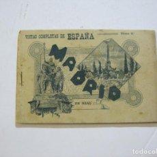 Postales: MADRID-VISTAS COMPLETAS DE ESPAÑA-BLOC CON VISTAS DIBUJADAS-VER FOTOS-(K-38). Lote 216609393