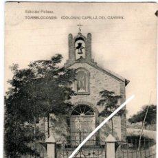 Postales: BONITA POSTAL - TORRELONES (MADRID) - COLONIA - CAPILLA DEL CARMEN - EDICION PELAEZ. Lote 217052156