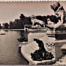 Postales: MADRID - PARQUE DEL RETIRO - FRAGMENTO DEL MONUMENTO A ALFONSO XII - EDICIONES AFRODISIO AGUADO. Lote 217333001
