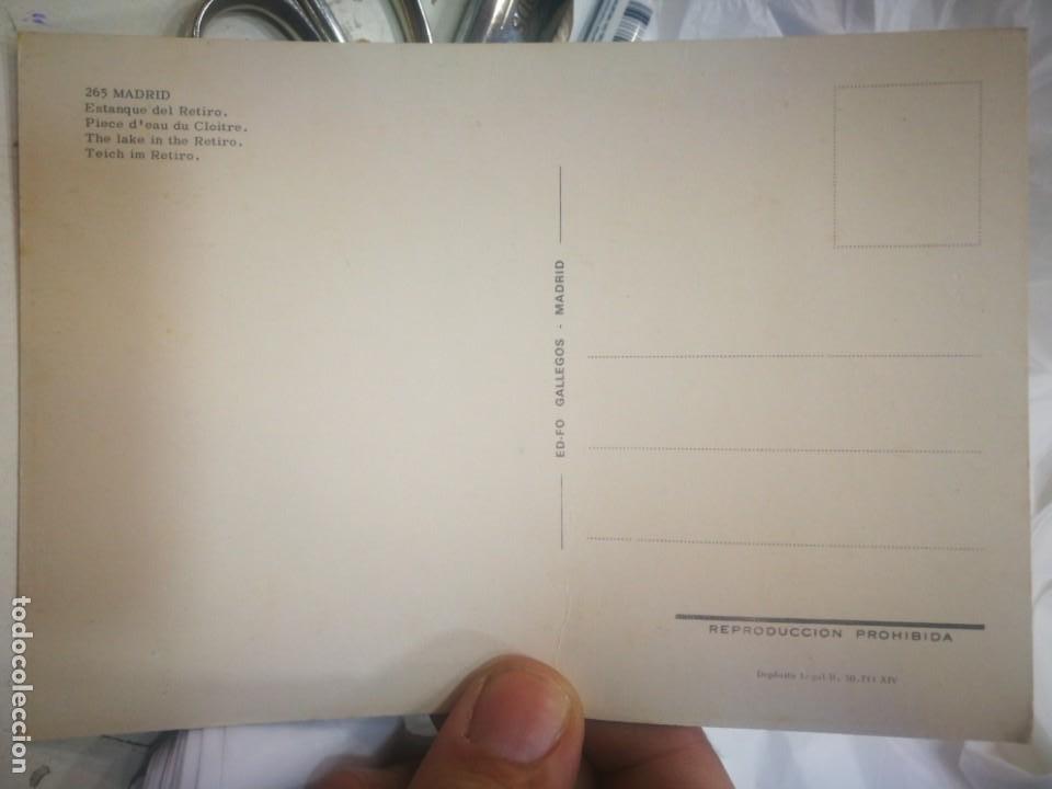 Postales: Postal Mádrid Estanque del Retiro N 265 GALLEGOS S/C - Foto 2 - 217630870