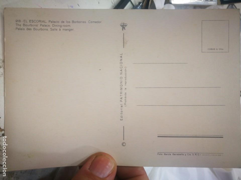 Postales: Postal El Escorial Palacio de los Borbones Comedor N 918 PATRIMONIO NACIONAL S/C - Foto 2 - 217641456