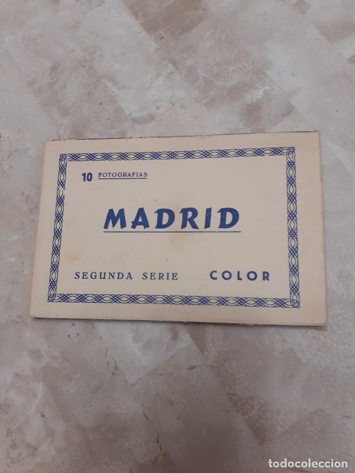CARPETA SOUVENIR AÑOS 60 CON DIEZ POSTALES DE MADRID (Postales - España - Madrid Moderna (desde 1940))
