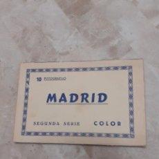 Postales: CARPETA SOUVENIR AÑOS 60 CON DIEZ POSTALES DE MADRID. Lote 217787565