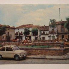 Cartes Postales: CADALSO DE LOS VIDRIOS - PLAZA DEL 18 DE JULIO ANTIGUA CORREDERA - AUTOMÓVIL SEAT 600 - LMX - MAD5. Lote 218867592