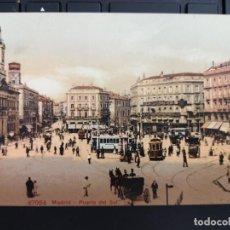 Postales: POSTAL MADRID Nº 47034 PUERTA DEL SOL COCHES DE CABALLOS TRANVIAS ED P.Z. COLOR PERFECTA CONSERVAC. Lote 219336553