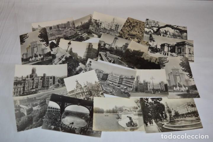 Postales: LOTE 20 POSTALES - Antiguas variadas - MADRID - Años 50 / 60 ¡Mira! - Foto 2 - 219501381