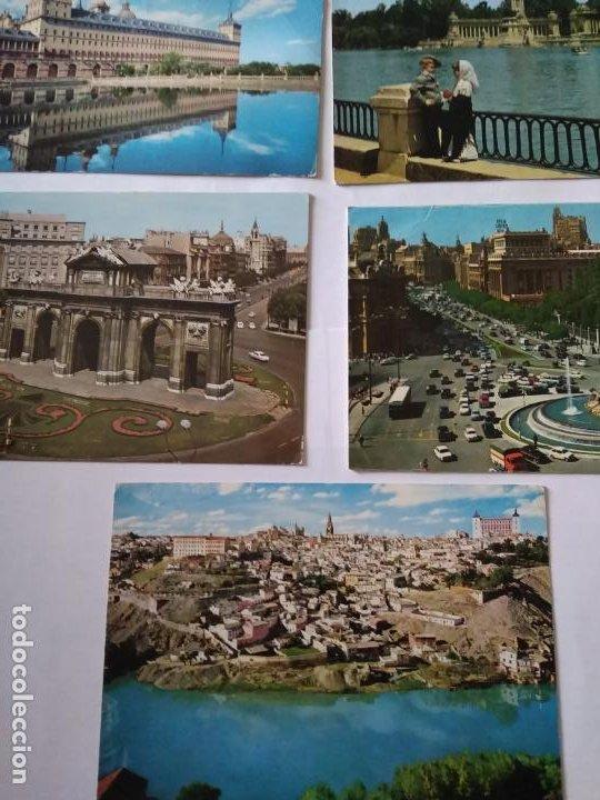 MADRID, TOLEDO, ESCORIAL - 5 POSTALES (Postales - España - Madrid Moderna (desde 1940))