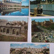 Postales: MADRID, TOLEDO, ESCORIAL - 5 POSTALES. Lote 220188771